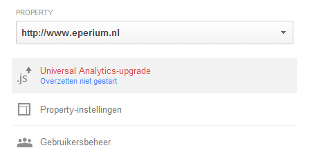 Upgrade Universal Analytics