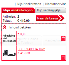 Bestellen bij Neckermann