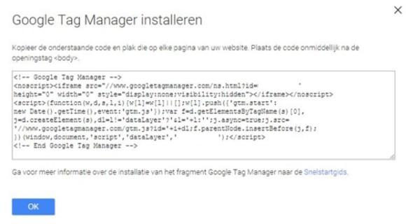 Google trackingcode