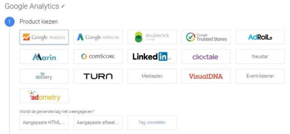 Producten Google Tag Manager